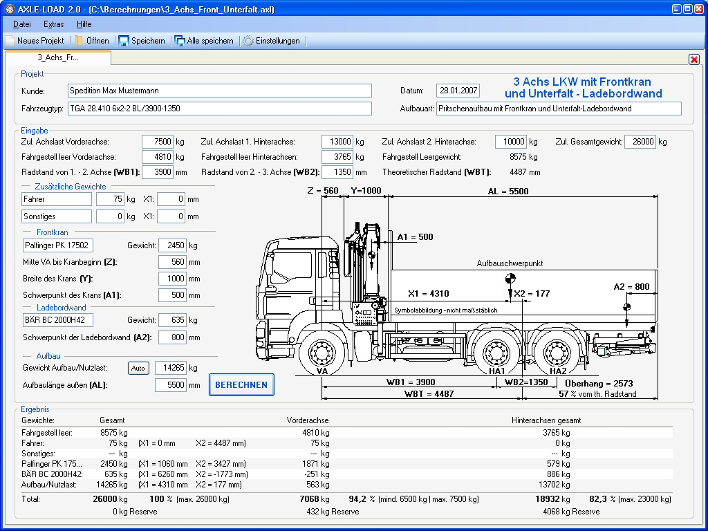 axle load calculation for trucks